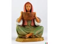 Fontanini 4415 - Statuina Presepe: Pastorella con Cesto Resina 12 cm