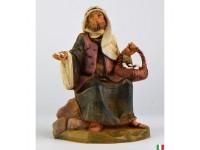 Fontanini 4562 - Statuina Presepe: Pastore con Uova Resina 12 cm