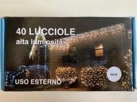 CATENA LUCI 40 LUCCIOLE BIANCHE USO INTERNO ED ESTERNO 3,9 Mt NATALE