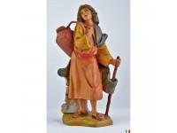 Fontanini 4563 - Statuina Presepe: Pastore con Bastone e Anfora Resina 12 cm