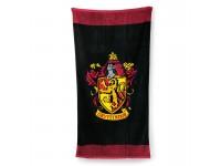 Harry Potter Asciugamano Nero Stemma Grifondoro Cotone 75x150 cm Groovy