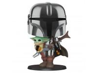 Star Wars Funko POP Film Vinile Figura Mandaloriano Con Yoda Bambino 25cm