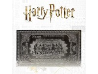 Harry Potter Replica Biglietto del Treno per Hogwarts Placcato Argento Edizione Limitata