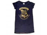 Harry Potter T-Shirt Adulto Donna Blu con Stemma Hogwarts Oro