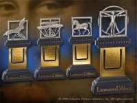 Il Codice da Vinci Set 4 Segnalibri Leonardo da Vinci Noble Collection