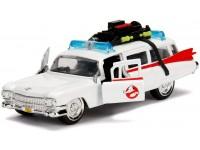 Jada Cadillac Ghostbustoers Ecto-1 1959 Die Cast 1:32 Funzionamento A Ruota Libera