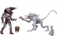 Alien& Predator Set 2 Statua Alien E Predator Classic Figura 14 Cm Neca
