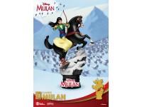 Mulan Statua Mulan con Kahn e Mushu D-Stage Diorama Figura 18 cm Beast Kingdom