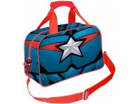 Captain America Borsa Sportiva Blu Scuro Civil War Karactermania