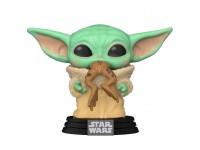 Star Wars Mandalorian Funko Pop Film Vinile Figura Yoda Bambino Con Rana 9 Cm