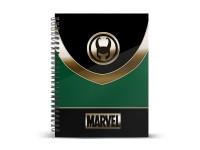 Marvel Loki Agenda Verde A4 Carta a Griglia Karactermania