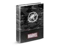 Marvel Raccoglitore 4 Anelli Grigio con Martello di Thor Karactermania