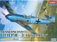 Academy 12216 MESSERSCHMITT BF109E-3 HEINZ BAR Kit Modellino