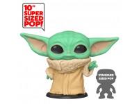 Star Wars Mandalorian Funko POP Film Vinile Figura Yoda Bambino 25 cm SCATOLA ROVINATA