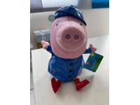 Peppa Pig con Impermeabile Blu 30 cm Peluche Pms