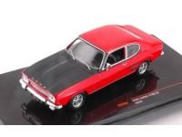 Ixo model CLC258 FORD CAPRI MKI 1700 GT 1970 RED/BLACK 1:43 Modellino