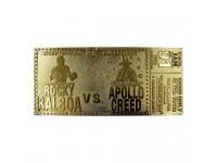 Rochy 45° Anniversario Replica Biglietto Bicentenario La Sfida (placcato in oro) Fanattik