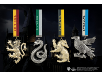 Harry Potter Tree Ornaments Hogwarts Mascots 4-Pack Noble Collection