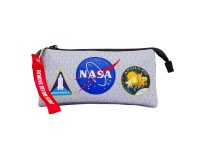 NASA Houston Astuccio Portatutto Triplo HS, Griggio Karactermania